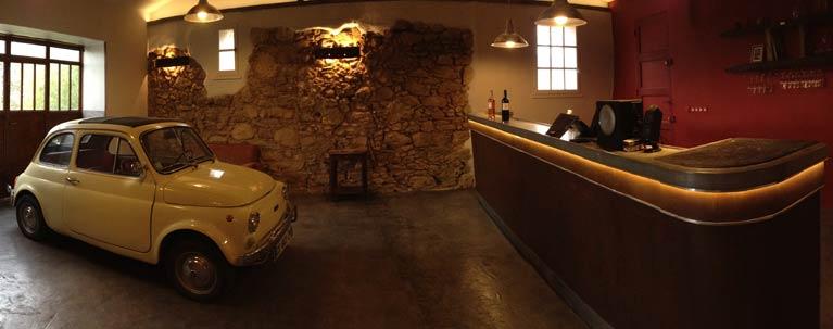 Fiat 500 au TDbar de La Tour du Bon